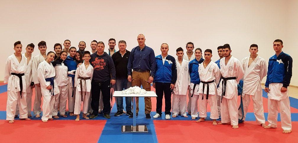 New Year's Vasilopitta ceremony for pre-national team