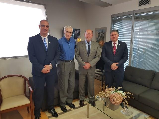 21/2/2018 Επίσκεψη προέδρου wkf στην Κυπριακή Ολυμπιακή Επιτροπή με τον πρόεδρο κ.Ντίνο Μιχαηλίδη