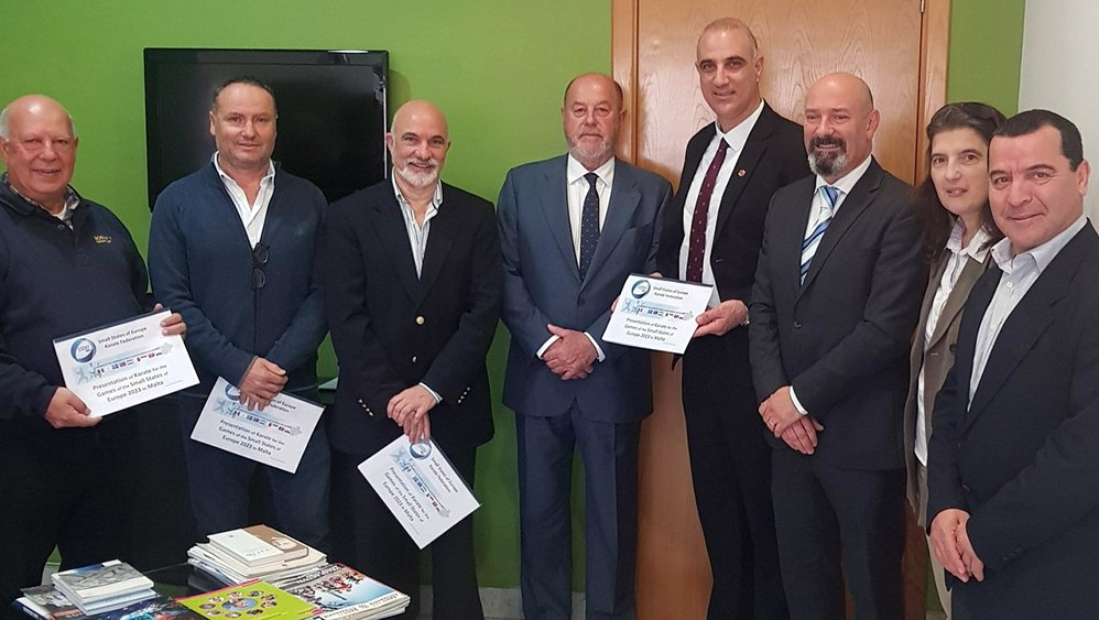WKF President visits Malta National Olympic Committee